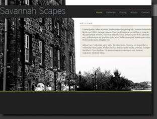custom website created for our Savannah photography project